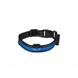 Eyenimal Collier Lumineux USB Rechargeable Blue Taille M - La Compagnie Des Animaux