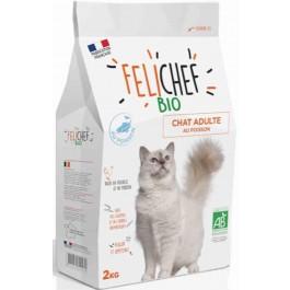 Felichef croquettes BIO chat adulte au poisson 2 kg - La Compagnie Des Animaux