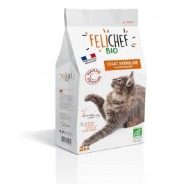 Felichef croquettes BIO chat stérilisé 2 kg - La Compagnie Des Animaux