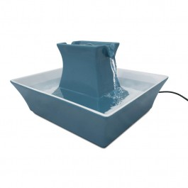 Fontaine Drinkwell Pagoda bleu 2 L - La Compagnie Des Animaux
