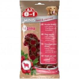 8in1 Minis Friandises Agneau Cranberries pour chien 100 g - La Compagnie Des Animaux