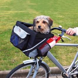 Trixie Front Box sac de transport pour vélo 38 × 25 × 25 cm noir / gris - La Compagnie Des Animaux