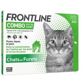 Frontline Combo Chat 3 pipettes - La Compagnie Des Animaux
