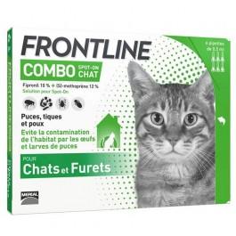 Frontline Combo Chat 6 pipettes - La Compagnie Des Animaux