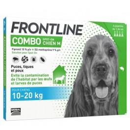 Frontline Combo Chien 10-20 kg 4 pipettes - La Compagnie Des Animaux