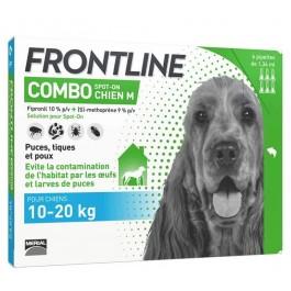 Frontline Combo Chien 10-20 kg 6 pipettes - La Compagnie Des Animaux