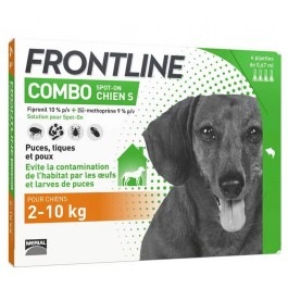Frontline Combo Chien 2-10 kg 4 pipettes - La Compagnie Des Animaux