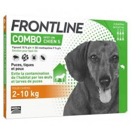 Frontline Combo Chien 2-10 kg 6 pipettes - La Compagnie Des Animaux