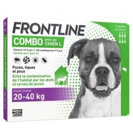 Frontline Combo Chien 20-40 kg 6 pipettes - La Compagnie Des Animaux
