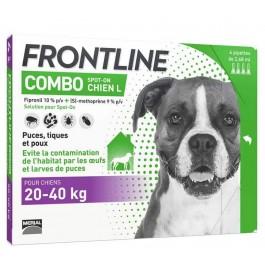 Frontline Combo Chien de 20-40 kg 4 pipettes - La Compagnie Des Animaux