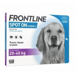 Frontline Spot on chien de 20-40 kg 4 pipettes - La Compagnie Des Animaux