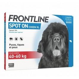 Frontline Spot on chien de 40-60 kg 6 pipettes - La Compagnie Des Animaux