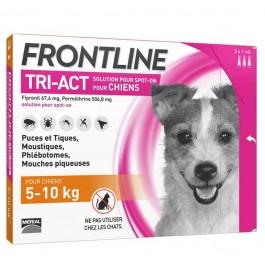 Frontline Tri Act spot on chiens 5 à 10 kg 3 pipettes - La Compagnie Des Animaux