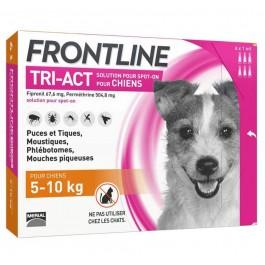 Frontline Tri Act spot on chiens 5 - 10 kg 6 pipettes - La Compagnie Des Animaux