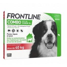 Frontline Combo Chien 40-60 kg 6 pipettes - La Compagnie Des Animaux