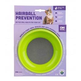 Gamelle Oh Bowl prévention boules de poils Verte - La Compagnie Des Animaux