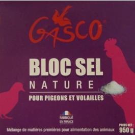 Gasco Bloc de Sel Nature 950 g - La Compagnie Des Animaux