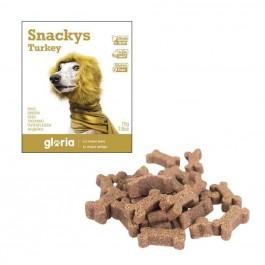 Gloria Snakys friandises à la dinde sans gluten pour chien 75 g - La Compagnie Des Animaux