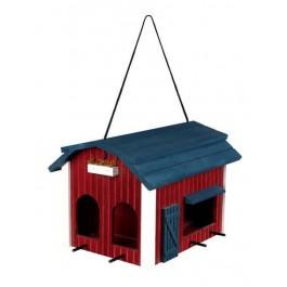 Trixie Mangeoire Grange 24 × 22 × 32 cm bois rouge - La Compagnie Des Animaux