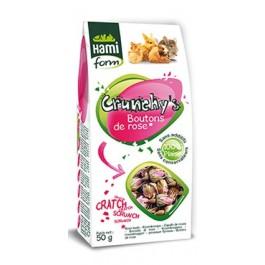 Hami Form Friandises Crunchy's Boutons de Rose Rongeurs 50 grs - La Compagnie Des Animaux