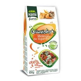 Hami Form Friandises Crunchy's Melange de Legumes Rongeurs 100 grs - La Compagnie Des Animaux