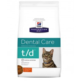 Hill's Prescription Diet Feline T/D 5 kg - La Compagnie Des Animaux