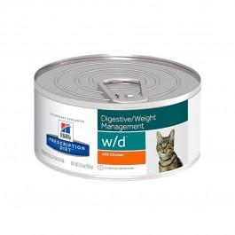 Hill's Prescription Diet Feline W/D Poulet BOITES 24 x 156 grs - La Compagnie Des Animaux