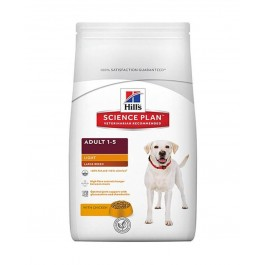 Offre -10 % Hill's Science Plan Canine Adult Large Light au poulet 18 kg - La Compagnie Des Animaux
