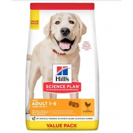 Offre -10 % Hill's Science Plan Canine Adult Large Light au poulet 18 kg - La Compagnie Des Animaux