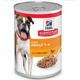 Hill's Science Plan Canine Adult Light Poulet 12 x 370 grs - La Compagnie Des Animaux