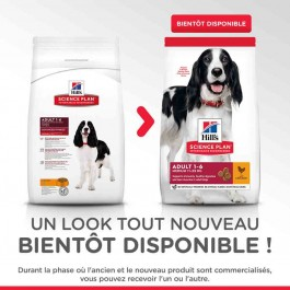 Hill's Science Plan Canine Adult Medium Advanced Fitness poulet 2.5 kg - La Compagnie Des Animaux