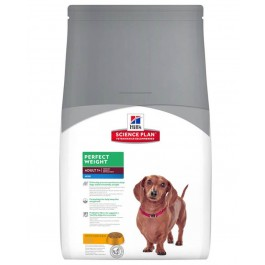Hill's Science Plan Canine Adult Mini Perfect Weight Poulet 2 kg - La Compagnie Des Animaux