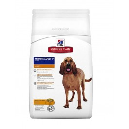 Hill's Science Plan Canine Mature adult 7+ Light Active Longevity au poulet 12 kg - La Compagnie Des Animaux