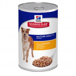 Hill's Science Plan Canine Mature Adult 7+ Poulet 12 x 370 grs - La Compagnie Des Animaux