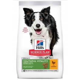 Hill's Science Plan Youthful Vitality Chien Medium Breed adult 7+ poulet 10 kg - La Compagnie Des Animaux