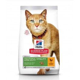 Hill's Science Plan Youthful Vitality Chat adult 7+ poulet 6 kg - La Compagnie Des Animaux
