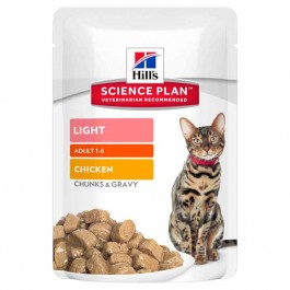 Hill's Science Plan Feline Adult Light Poulet sachets 12 x 85 grs - La Compagnie Des Animaux