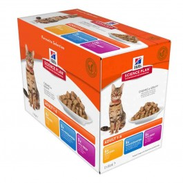 Hill's Science Plan Feline Adult Optimal Care Pack Mixte sachets 12 x 85 grs - La Compagnie Des Animaux