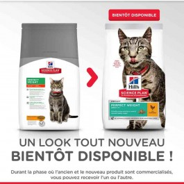 Hill's Science Plan Feline Adult Perfect Weight Poulet 1.5 kg - La Compagnie Des Animaux