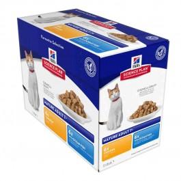 Hill's Science Plan Feline Mature Adult 7+ Pack Mixte sachets 12 x 85 grs - La Compagnie Des Animaux