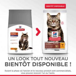 Hill's Science Plan Feline Mature Adult Hairball Control Poulet 1,5 kg - La Compagnie Des Animaux