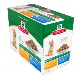 Hill's Science Plan Kitten Healthy Development Pack Mixte sachets 12 x 85 grs - La Compagnie Des Animaux