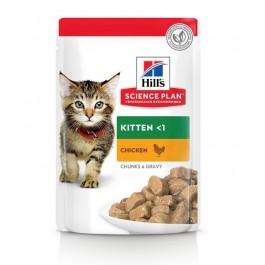 Hill's Science Plan Kitten Poulet sachets 12 x 85 grs - La Compagnie Des Animaux