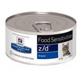 Hill's Prescription Diet Feline Z/D Ultra Allergen BOITES 24 x 156 grs - La Compagnie Des Animaux