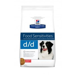 Hill's Prescription Diet Canine D/D Saumon et Riz 12 kg - La Compagnie Des Animaux