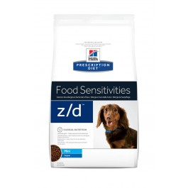 Hill's Prescription Diet Canine Z/D MINI Allergy & Skin Care 1.5 kg - La Compagnie Des Animaux