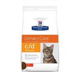 Hill's Prescription Diet Feline C/D Multicare au poulet 5 kg - La Compagnie Des Animaux