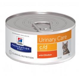 Hill's Prescription Diet Feline C/D Multicare Poulet BOITES 24 x 156 grs - La Compagnie Des Animaux