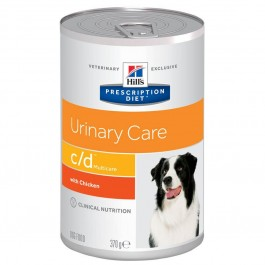Hill's Prescription Diet Canine C/D Urinary Care Poulet 12 x 370 grs - La Compagnie Des Animaux