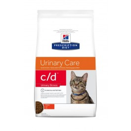 Hill's Prescription Diet Feline C/D Urinary Stress au poulet 1.5 kg - La Compagnie Des Animaux